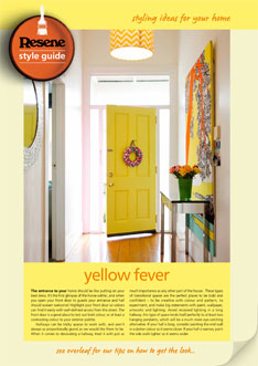 Be bold with bright yellows