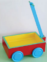 Paint a toy cart