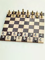 Make a wooden chessboard