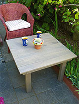 Create a simple outdoor coffee table