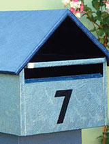 Paint a metallic effect on your mailbox