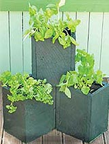 Build stackable planter boxes