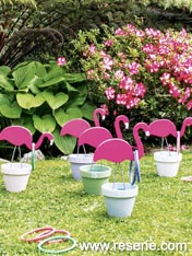 Make a flamingo hoopla game