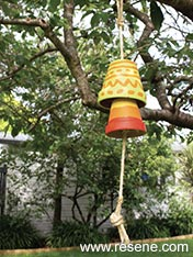 Paint terracotta pots and make a windchime