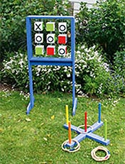 How to make outdoor quoits & noughts and crosses