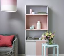 A splash of a pale pink, such as Resene Sweet Spot) among neutral greys (such as Resene Rakaia and Resene Seashell) is a great way to incorporate one of 2016's trendiest colours.