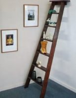 A ladder shelf is simple and stunning!