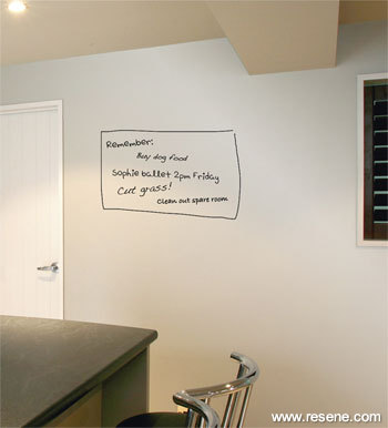 Write Directly On To Walls Painted With Resene Write On