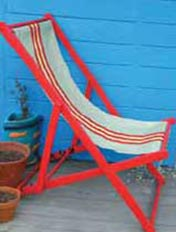 Turn a kitset chair into a garden feature