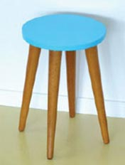 Repaint an old stool for a bright new look