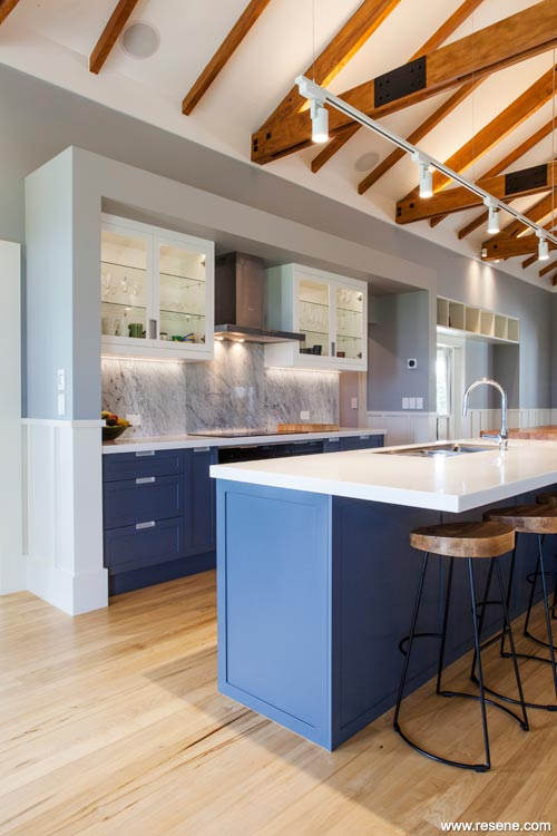 Decorating Your Kitchen Current Trends Resene - Grey kitchen colour schemes