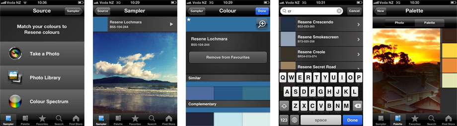 Resene ColourMatch iPhone and Android colour matching application