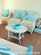 Transform  cane furniture with paint and colour
