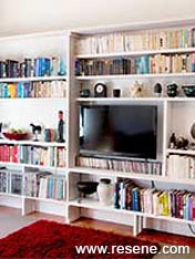 Maximise that awkward corner with wallmounted fitted shelves