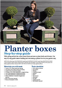 Our step-by-step guide makes building and decorating a planter box for your garden easy