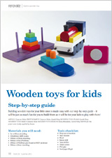 Building wooden toys for kids