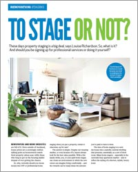 Property staging - to stage or not?