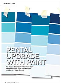 Rental upgrade with paint