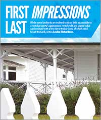 First impressions last and a good first impression will attract good tenants