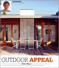 Outdoor appeal is improved by well kept decks and fences