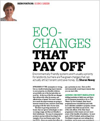Ecochanges that pay off
