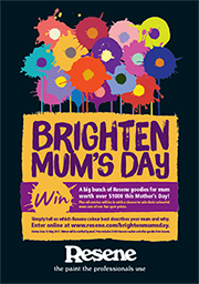 Brighten Mum's day with Resene Paints competition
