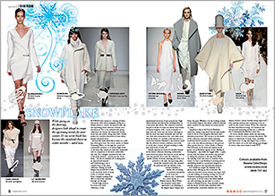 Runways had a dusting of white this season with white the trend for next winter
