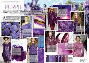 Purple has become a perennial favourite for the winter season