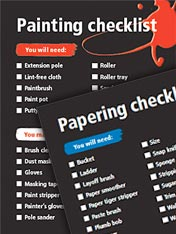 Painting and papering checklist