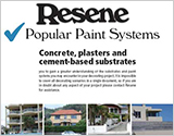 Popular Resene paint systems for Concrete brochure