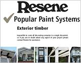 Popular Resene paint systems for Exterior timber  brochure