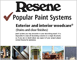 Resene paint systems Woodcare brochure for interior and exterior timber
