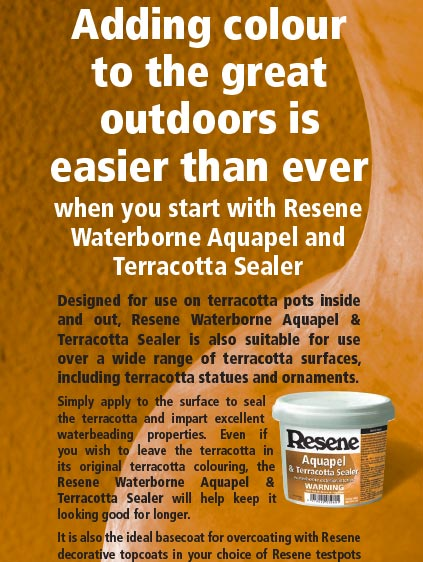 Resene Aquapel & Terracotta Sealer