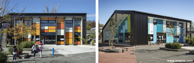 Colour use on school exteriors