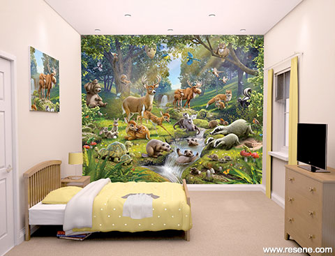 Animals of the Forest mural