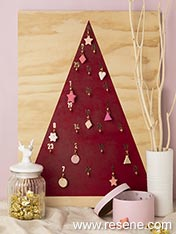 Make a christmas advent calendar